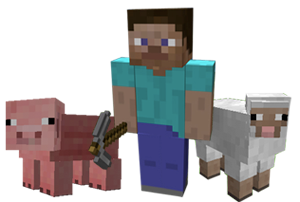 Characters in Minecraft